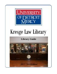 Library Guide - University of Detroit Mercy School of Law