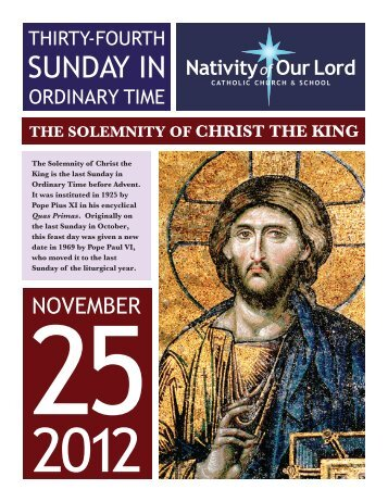 November 25, 2012 - Nativity of Our Lord