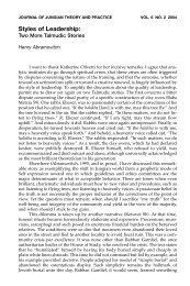 Styles of Leadership: - CG Jung Institute of New York