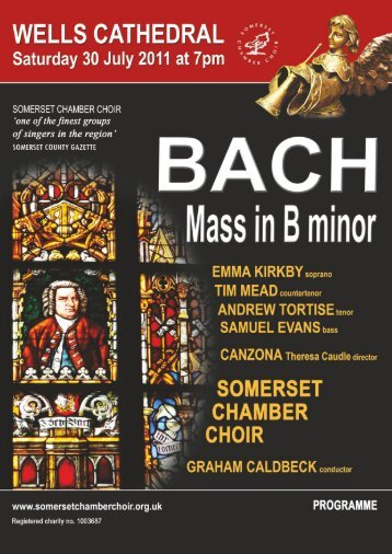 Click here to view the concert programme - Somerset Chamber Choir