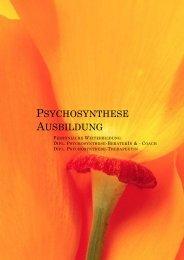 PSYCHOSYNTHESE AUSBILDUNG - Deutsche Psychosynthese ...