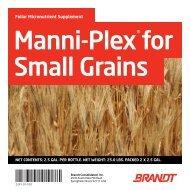 Manni-Plex for Small Grains - Brandt