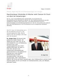 High-Tech für Druckanwendungen von morgen - Messe Düsseldorf