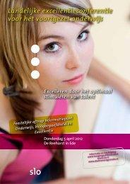 Programmaboekje Excellentieconferentie VO 2012 - Slo
