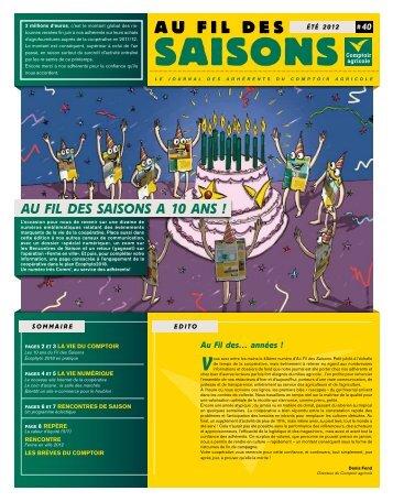 Fil Des Saisons #40 Eté 2012 - Comptoir Agricole