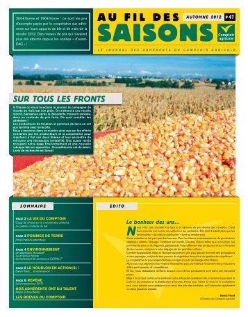 Fil Des Saisons #41 Automne 2012 - Comptoir Agricole