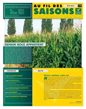 Fil Des Saisons #44 Été 2013 - Comptoir Agricole
