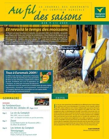 Fil Des Saisons #28 Eté 2009 - Comptoir Agricole
