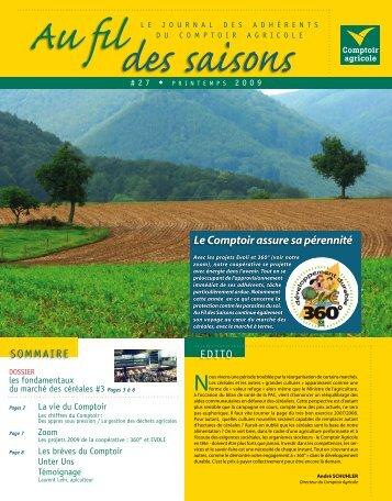 Fil Des Saisons #27 Printemps 2009 - Comptoir Agricole