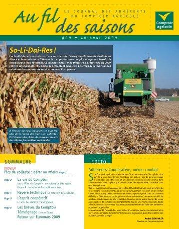 Fil Des Saisons #29 Automne 2009 - Comptoir Agricole