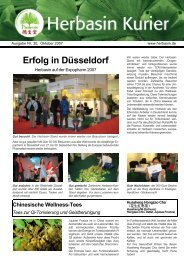 Ausgabe Nr. 30, Oktober 2007 - HerbaSinica Hilsdorf GmbH