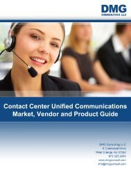 Contact Center Unified Communications Market ... - CRMXchange