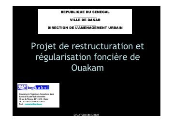 Coût du projet de restructuration et de régularisation foncière - MILE
