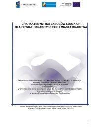 charakterystyka zasobów ludzkich dla powiatu krakowskiego