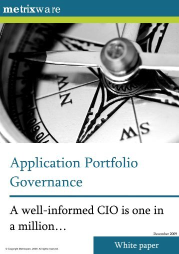 Application Portfolio Governance - Echo Sys IT Consulting