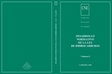 desarrollo normativo de la ley de hidrocarburos - Comisión Nacional ...