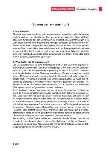 Stromsperre - Wdr.de