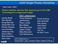 KISS Single Photon Workshop - Caltech