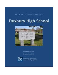 NEASC SELF-STUDY FINAL REPORT - Fc.duxbury.k12.ma.us