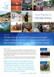 Climate Friendly Credentials Flyer