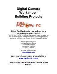Digital Camera Workshop - Tool Factory
