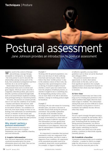 Postural assessment - Human Kinetics