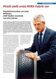 Pirelli stellt erste MIRS-Fabrik vor 7/2000 - Reifenpresse.de