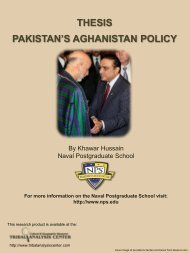 THESIS PAKISTAN'S AGHANISTAN POLICY - Tribal Analysis Center