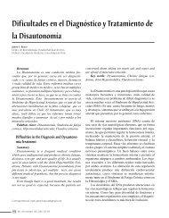 dificultades en el diagnóstico y Tratamiento de la disautonomía