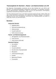 Liste mit verschiedenen Themengebieten - WiWi
