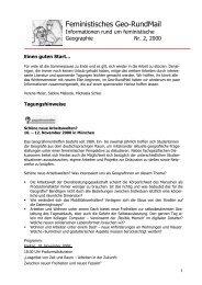 Nr. 2, September 2000 - AK Geographie und Geschlecht