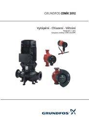 Ceník Grundfos 2012 CZ - Vytápění - Chlazení - Větrání