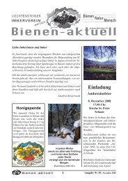 Bienen-aktuell Nr. 55 - Liechtensteiner Imkerverein