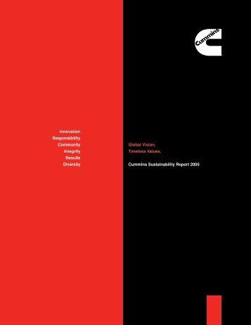 Sustainability Report 2005 - Cummins.com