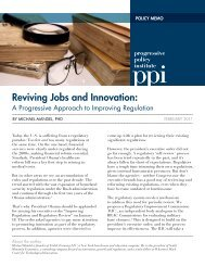 reviving Jobs and Innovation: - Progressive Policy Institute