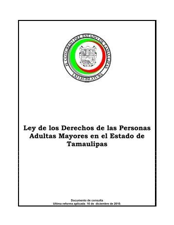 Ley de los Derechos de las Personas Adultas Mayores en el Estado ...