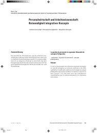 Notwendigkeit integrativer Konzepte - Zeitschrift für ...