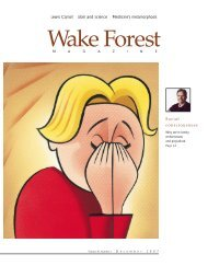 Wake Forest Magazine, Dec. 1997 - Past Issues - Wake Forest ...