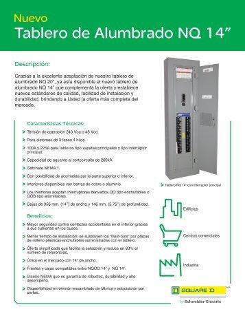 "Tablero de Alumbrado NQ 14"" - Schneider Electric"