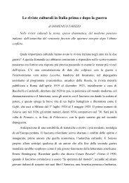 Le riviste culturali in Italia prima e dopo la guerra - Catalogo ...