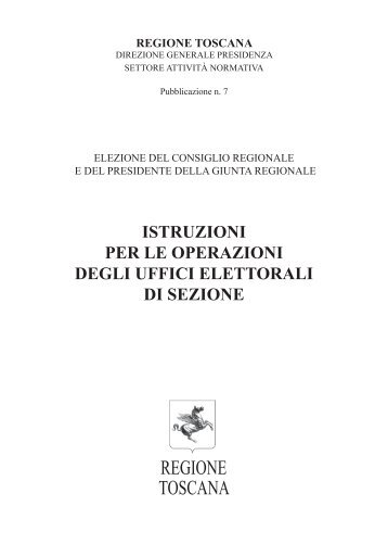 Istr. per le operazioni degli Uffici di sezione - Reg.Toscana
