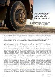 Der Lkw-Reifen- markt ist mehr Freude denn Last - Reifenpresse.de