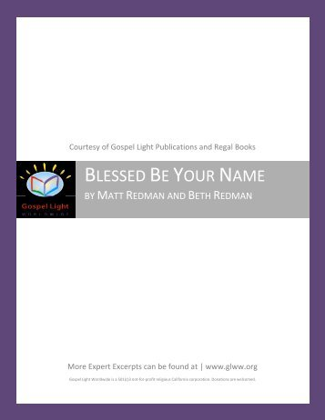 BLESSED BE YOUR NAME - Gospel Light Worldwide