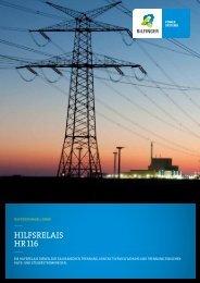 Hilfsrelais HR 116 - Bilfinger Mauell GmbH