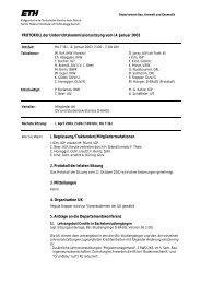 Sitzung 1/03 vom 14.01.03 - Departement Bau, Umwelt und Geomatik