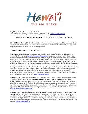 june's sizzlin' news from hawai'i, the big island - The Official Hawaii ...