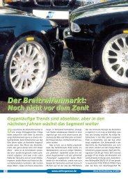 Der Breitreifenmarkt: Der Breitreifenmarkt: - Reifenpresse.de
