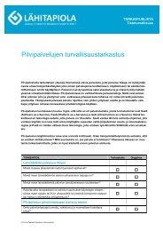 Ohjedokumenttien mallipohja - Tapiola
