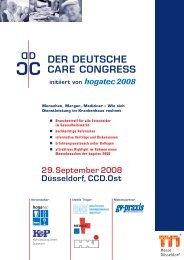 DER DEUTSCHE CARE CONGRESS - Messe Düsseldorf