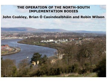 THE OPERATION OF THE NORTH-SOUTH IMPLEMENTATION ...